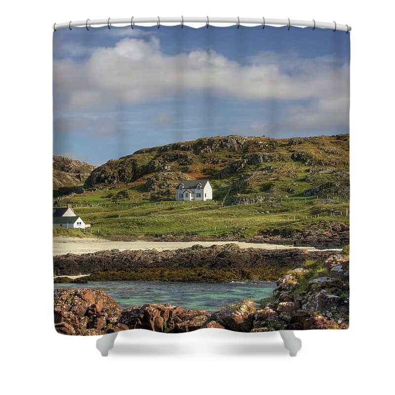 Scotland Shower Curtain featuring the photograph Clachtoll Beach by Colette Panaioti