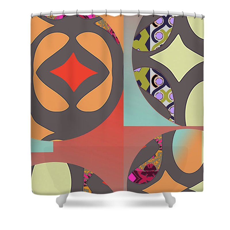 Digital Art Shower Curtain featuring the digital art Claire by Ceil Diskin