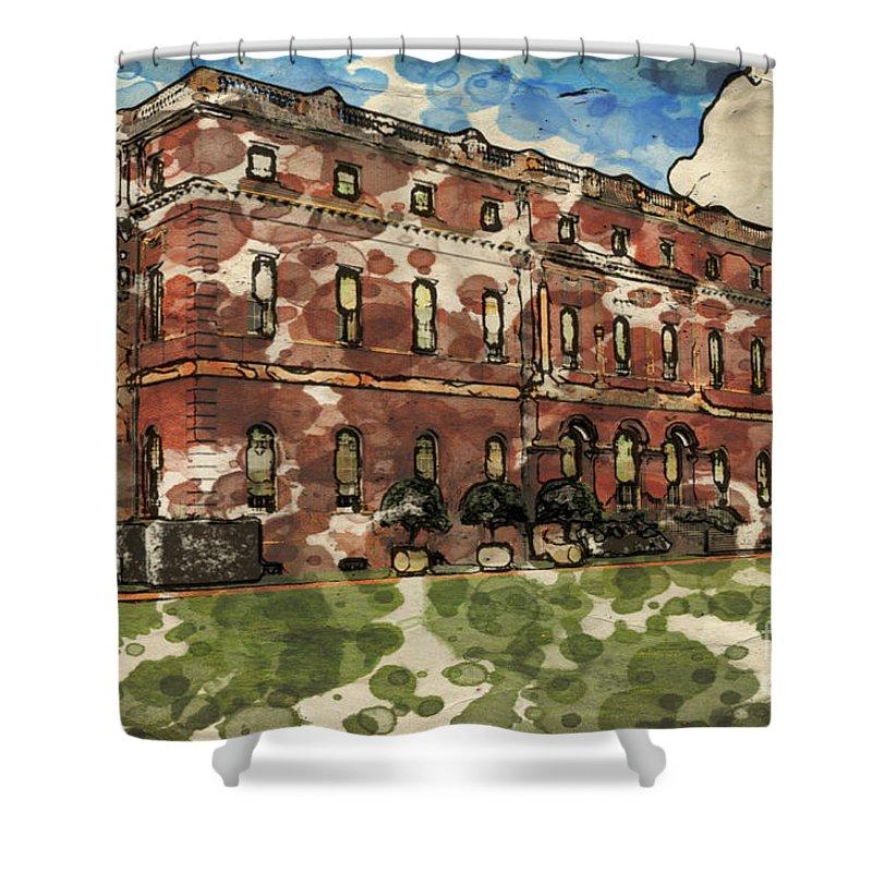 18th-century Shower Curtain featuring the digital art Clandon House by Paul Stevens