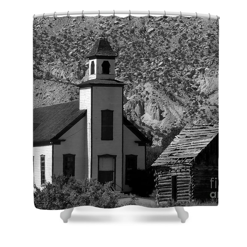 Mormon Shower Curtain featuring the photograph Clapboard Church 1898 by David Lee Thompson