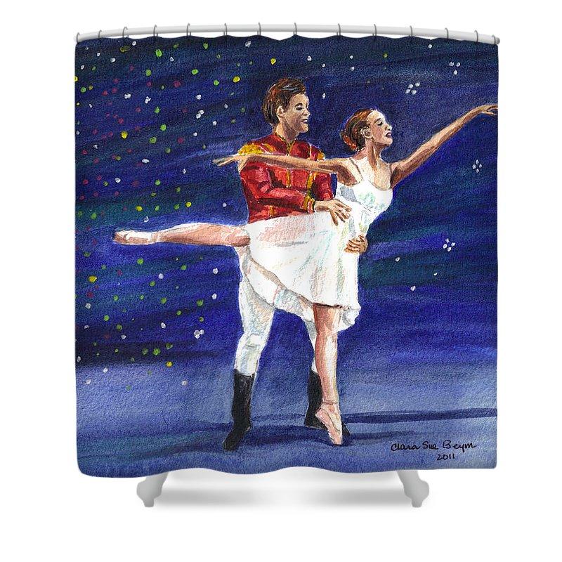 Clara Shower Curtain featuring the painting Clara's Nutcracker by Clara Sue Beym