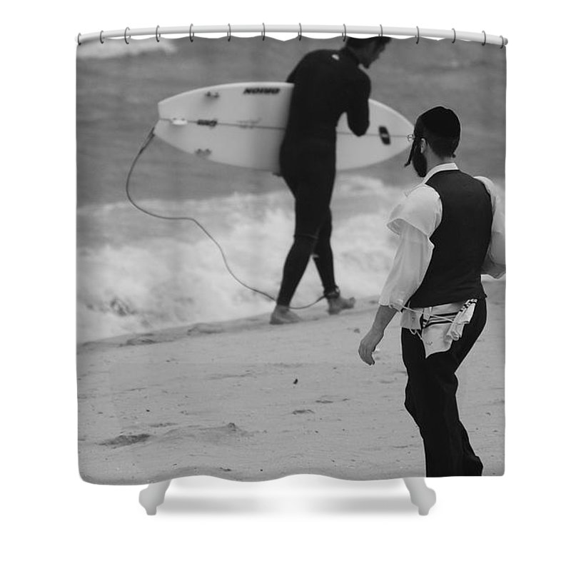 Black And White Shower Curtain featuring the photograph Clash Of Cultures by Rob Hans