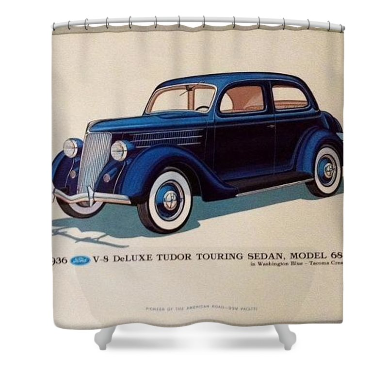 Classic American Cars Shower Curtain for Sale by Dom Pacitti