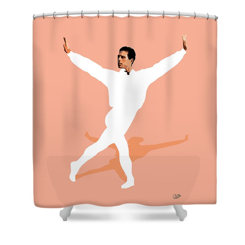 Dancer Shower Curtain featuring the digital art Ballet Master Dancer by Joaquin Abella