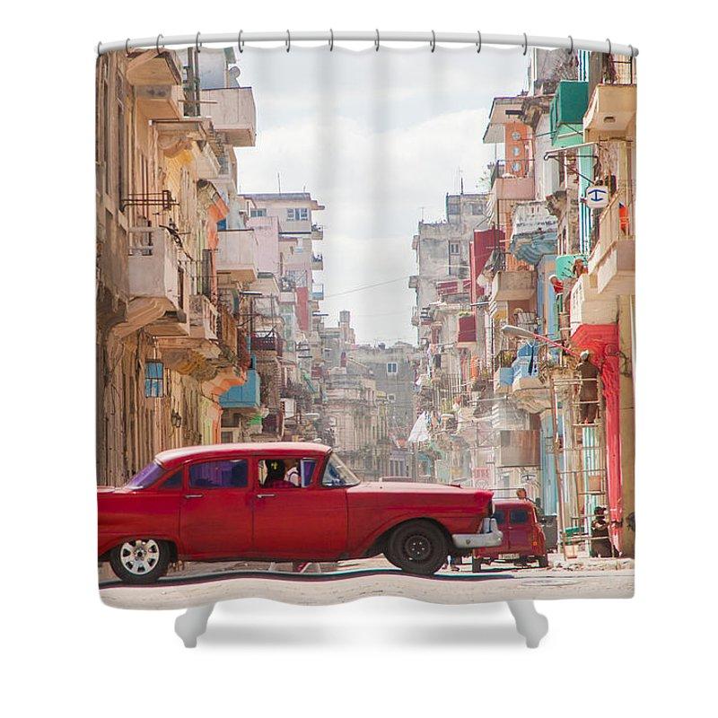 Cuba Shower Curtain featuring the photograph Classic Cuba Car Viii by Rob Loud