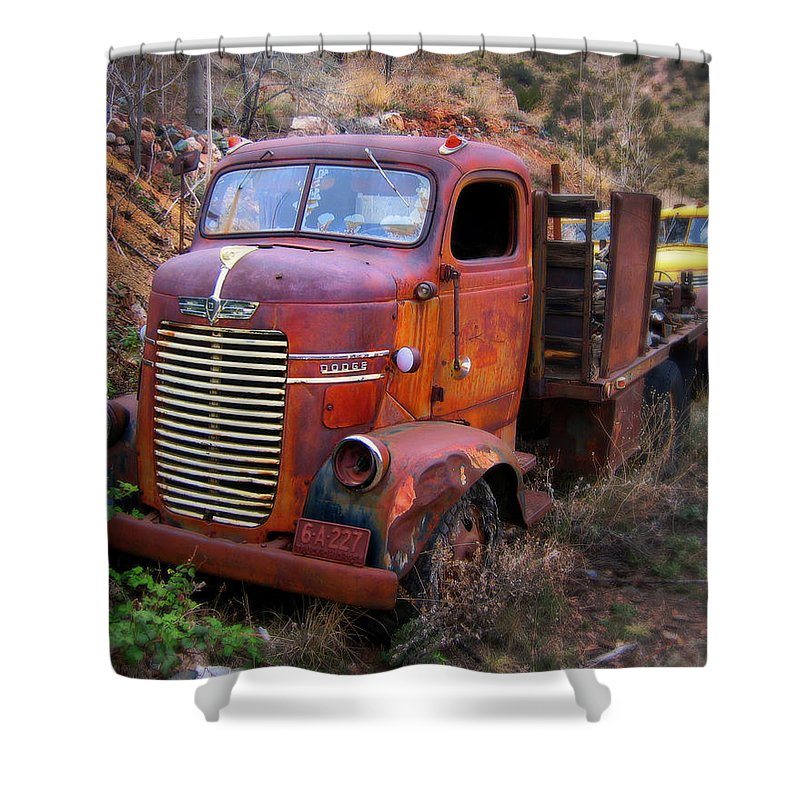 Car Shower Curtain featuring the photograph Classic Delivory by Perry Webster
