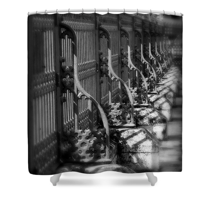Fence Shower Curtain featuring the photograph Classic Fence by Perry Webster