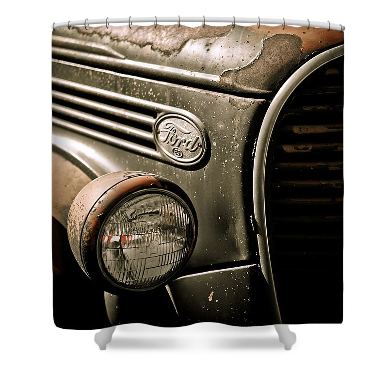 Americana Shower Curtain featuring the photograph Classic Ford Truck by Marilyn Hunt
