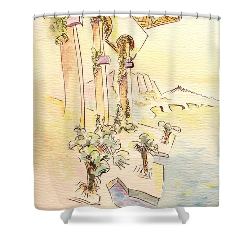 Italian Shower Curtain featuring the painting Classic Summer Morning by Dave Martsolf