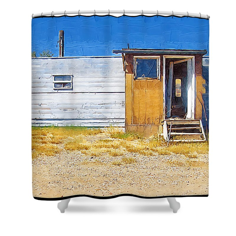 Window Shower Curtain featuring the photograph Classic Trailer by Susan Kinney