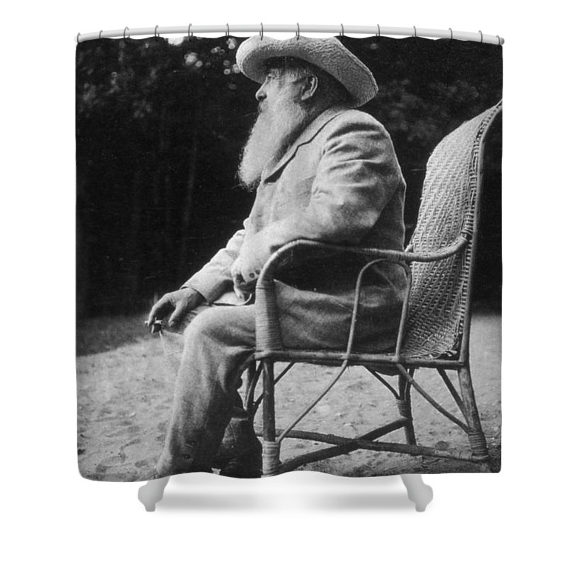 20th Century Shower Curtain featuring the photograph Claude Monet (1840-1926) by Granger