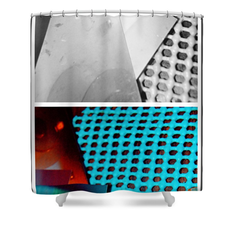 Abstract Shower Curtain featuring the photograph Clean Air by Alwyn Glasgow