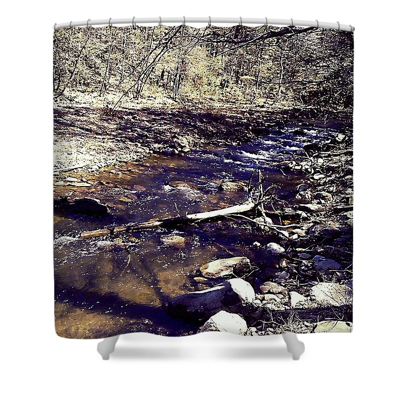 Streams Shower Curtain featuring the photograph Cleansing Stream by Amy-Elizabeth Toomey