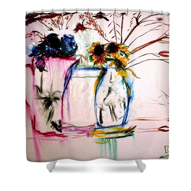 Still Life Shower Curtain featuring the painting Clear by Jack Diamond