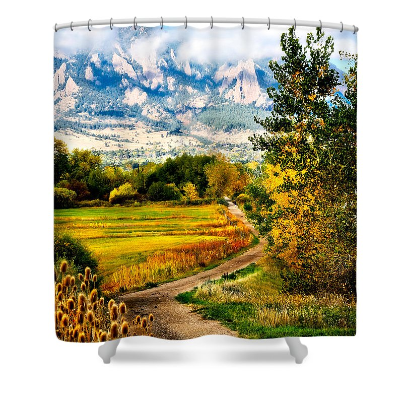 Americana Shower Curtain featuring the photograph Clearly Colorado by Marilyn Hunt