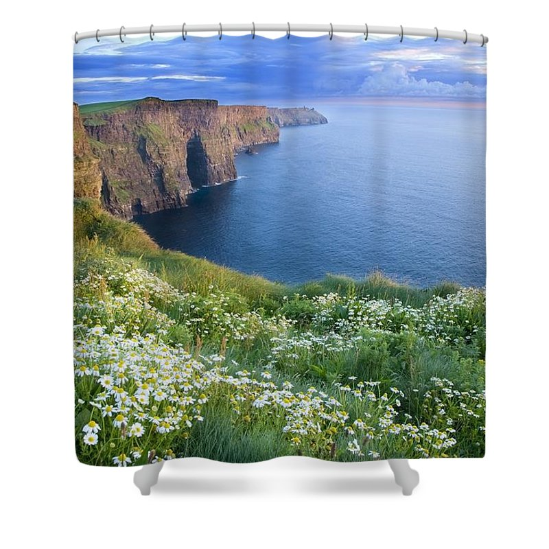 Outdoors Shower Curtain featuring the photograph Cliffs Of Moher, Co Clare, Ireland by Gareth McCormack