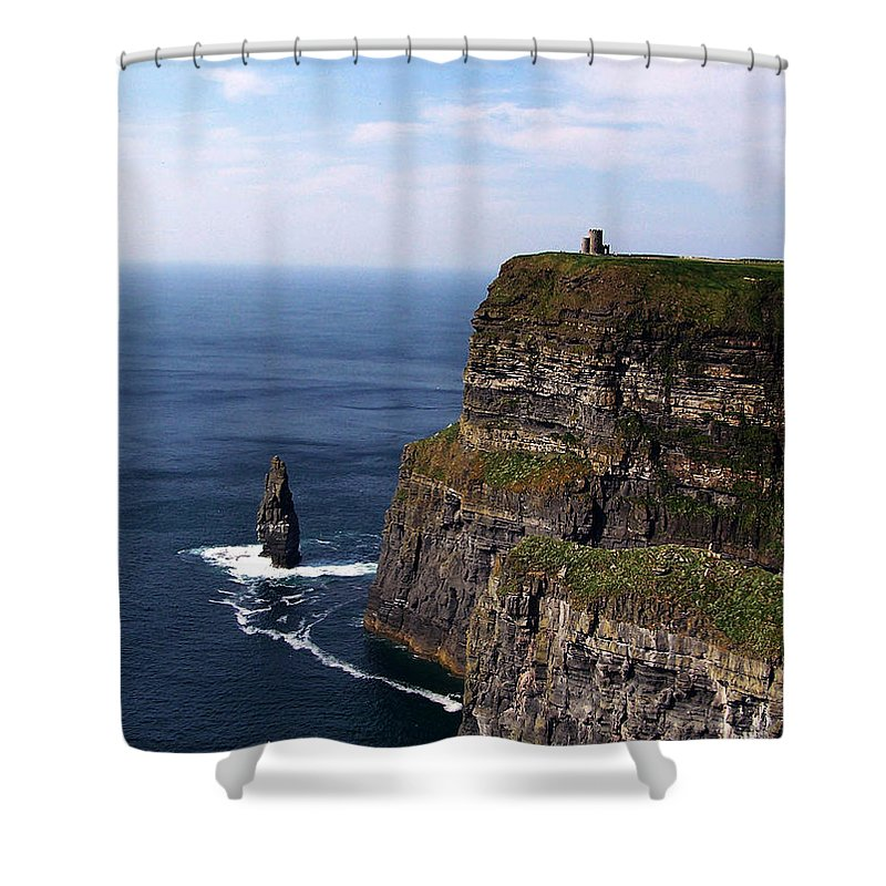 Irish Shower Curtain featuring the photograph Cliffs Of Moher County Clare Ireland by Teresa Mucha