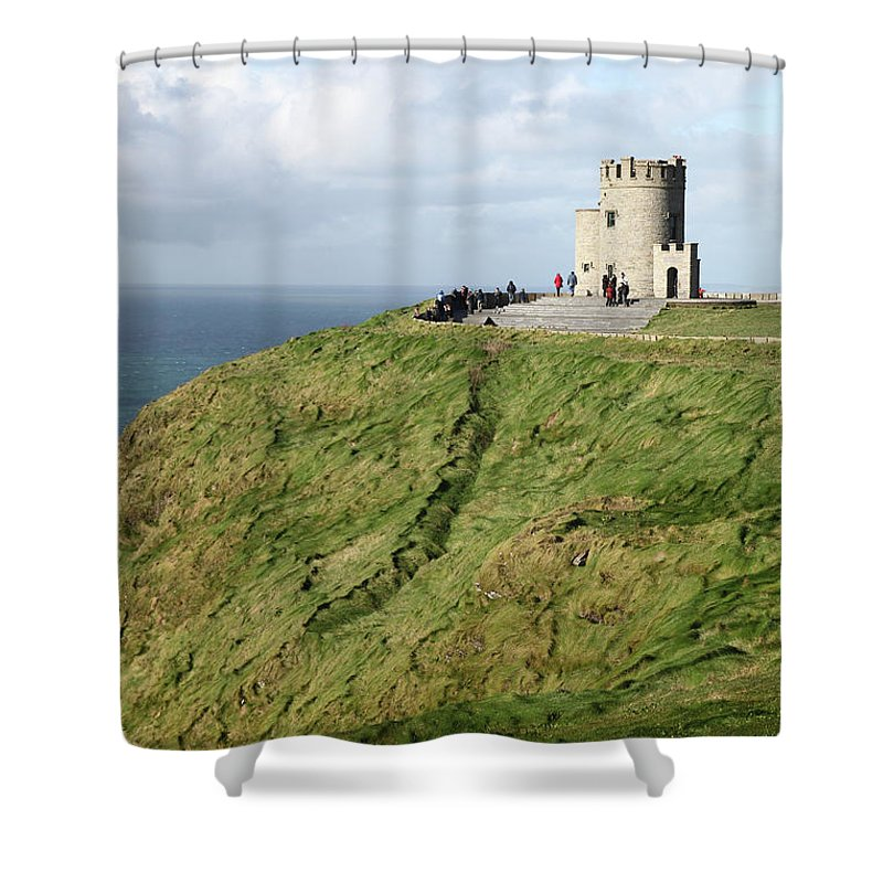 Ireland Green Island Cliffs Of Moher Cliffsofmoher Nature Shower Curtain featuring the photograph Cliffs Of Moher by Daniel Klein