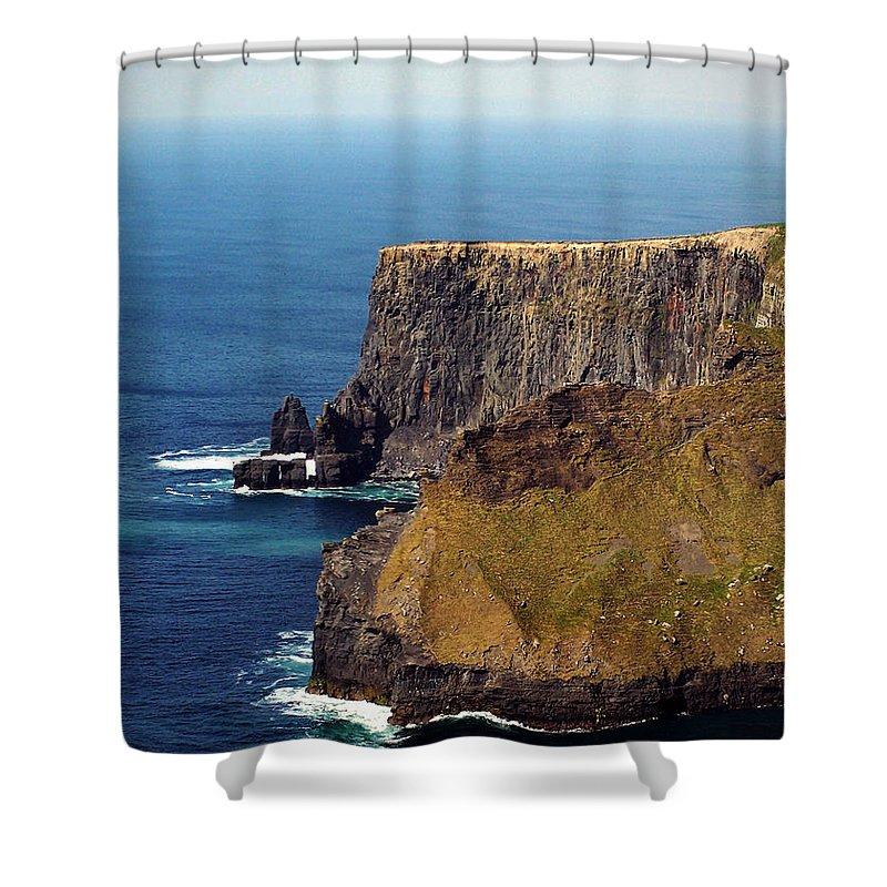 Irish Shower Curtain featuring the photograph Cliffs Of Moher Ireland View Of Aill Na Searrach by Teresa Mucha