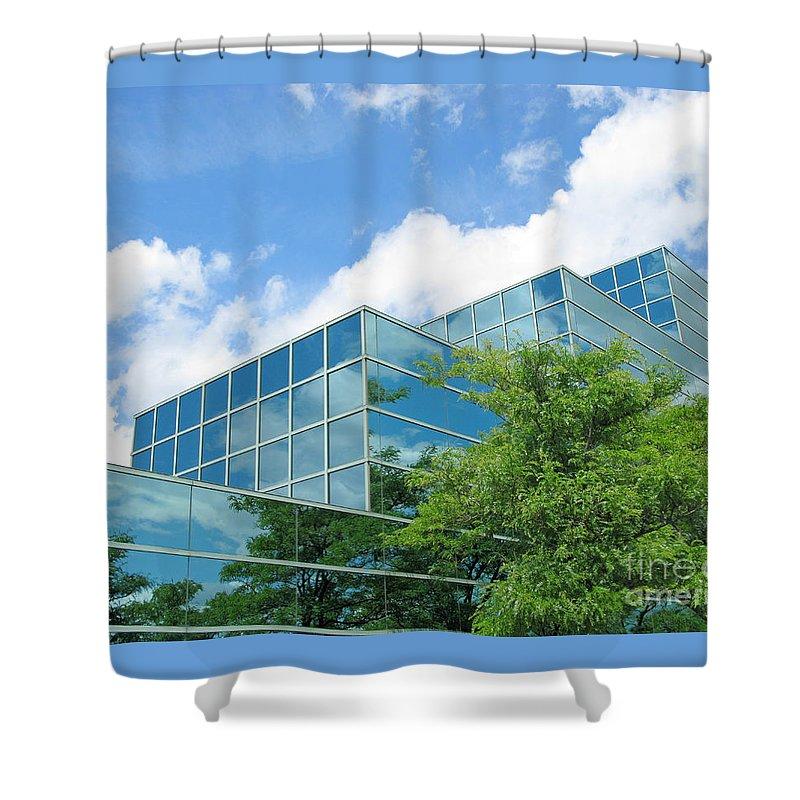 Architecture Shower Curtain featuring the photograph Climbing Skyward by Ann Horn