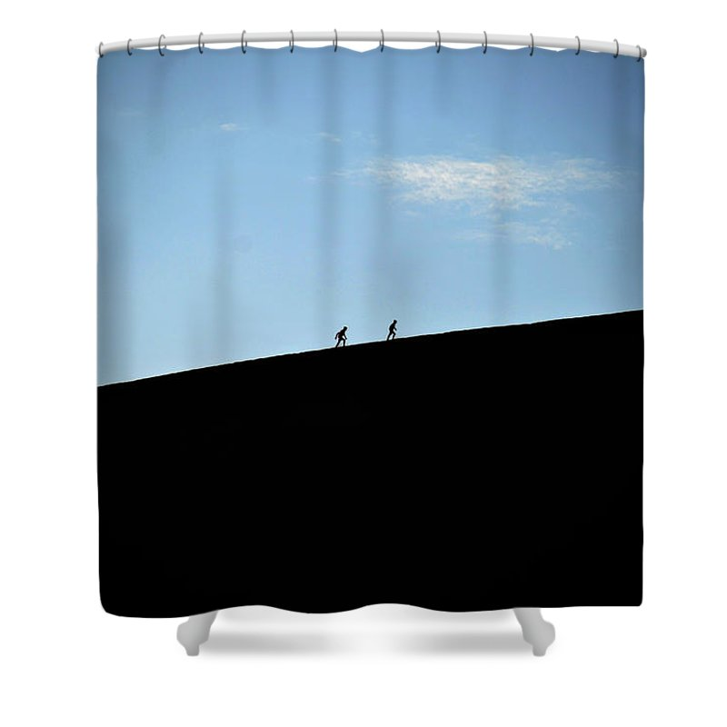 Climbing Shower Curtain featuring the photograph Climbing Up by Harry Coburn