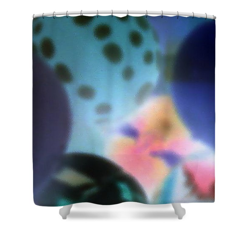 Balls Shower Curtain featuring the photograph Close Up Of Rubber Bounce Balls by Cindy New