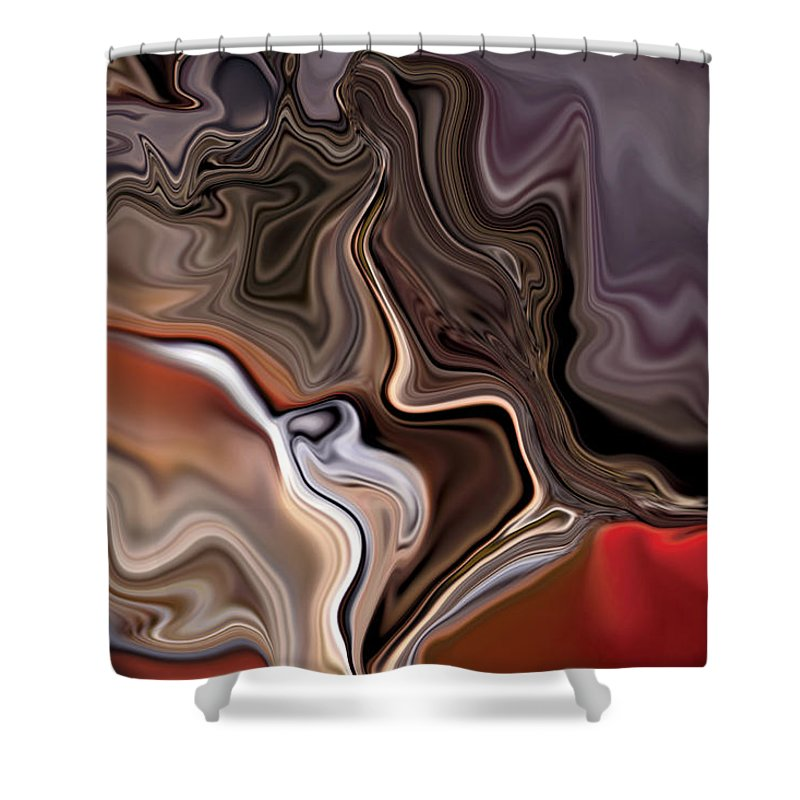 Abstract Shower Curtain featuring the digital art Closer by Rabi Khan