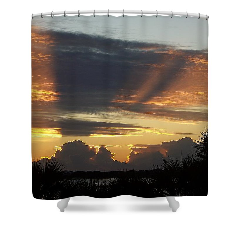Sunsets Shower Curtain featuring the photograph Cloud Cast Glory by Karen Wiles