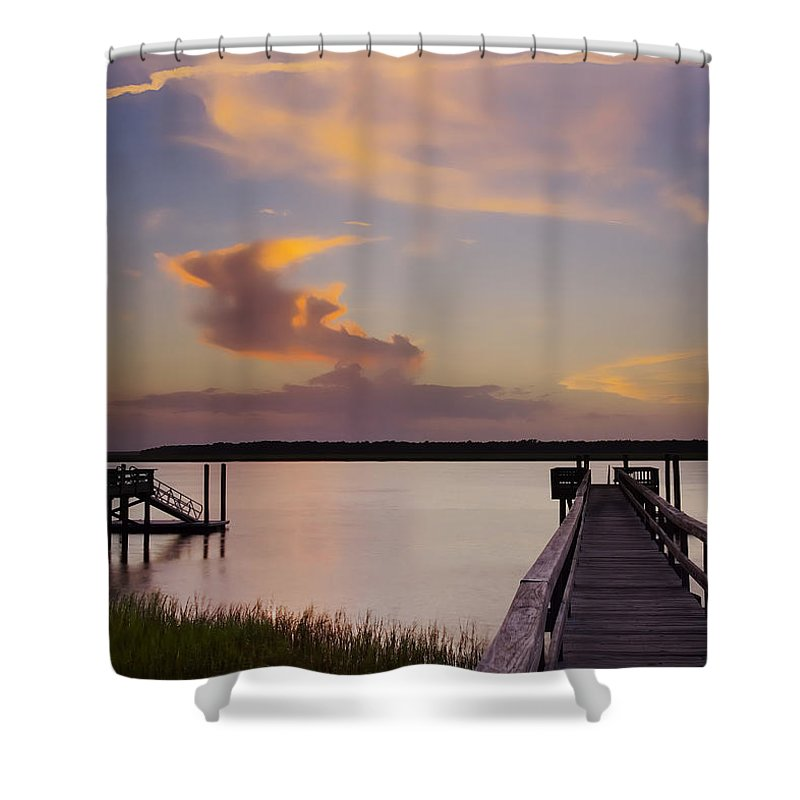 South Carolina Shower Curtain featuring the photograph Cloud Forms by Phill Doherty