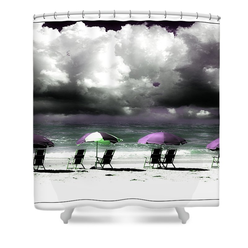 Beach Shower Curtain featuring the photograph Cloud Illusions by Mal Bray