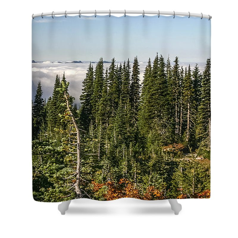Clouds Shower Curtain featuring the photograph Cloud Layer by Albert Seger