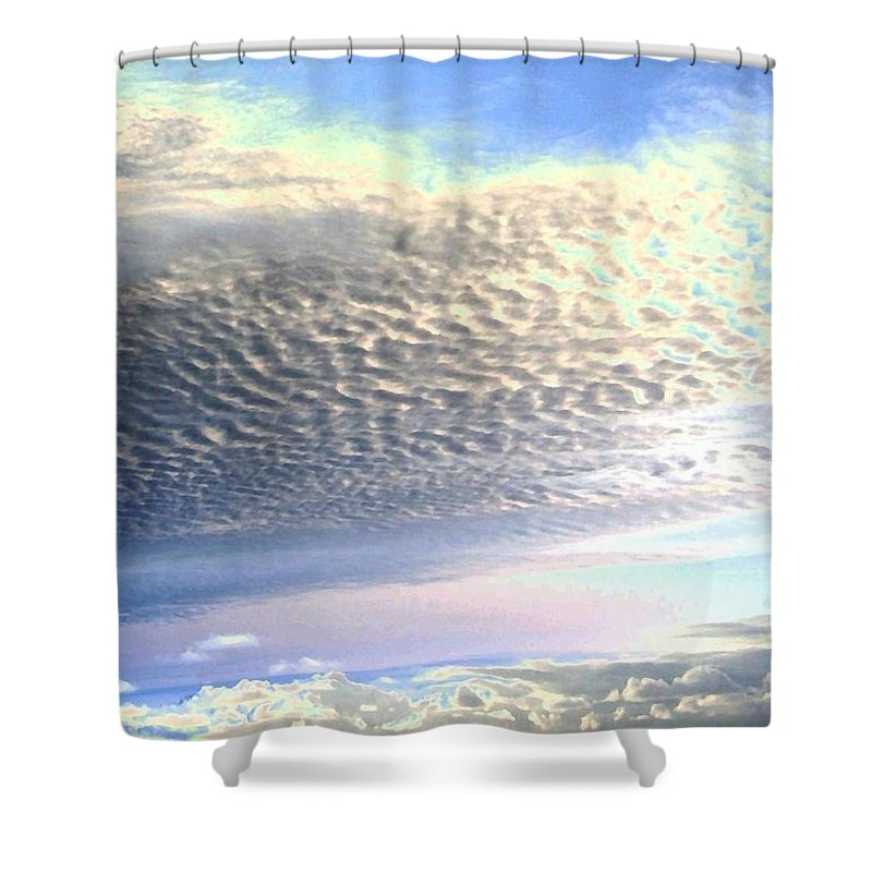 Sky Shower Curtain featuring the photograph Cloud Nine 5 by Will Borden