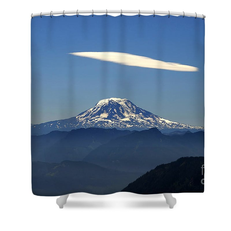 Mount Adams Shower Curtain featuring the photograph Cloud Over Adams by David Lee Thompson