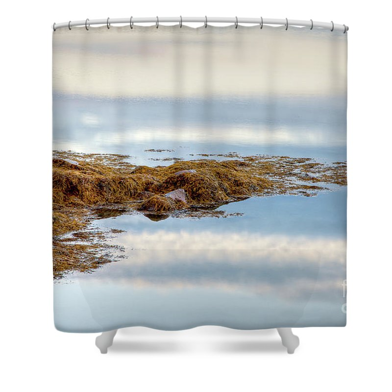 Beautiful Clouds Shower Curtain featuring the photograph Cloud Reflections by Susan Cole Kelly