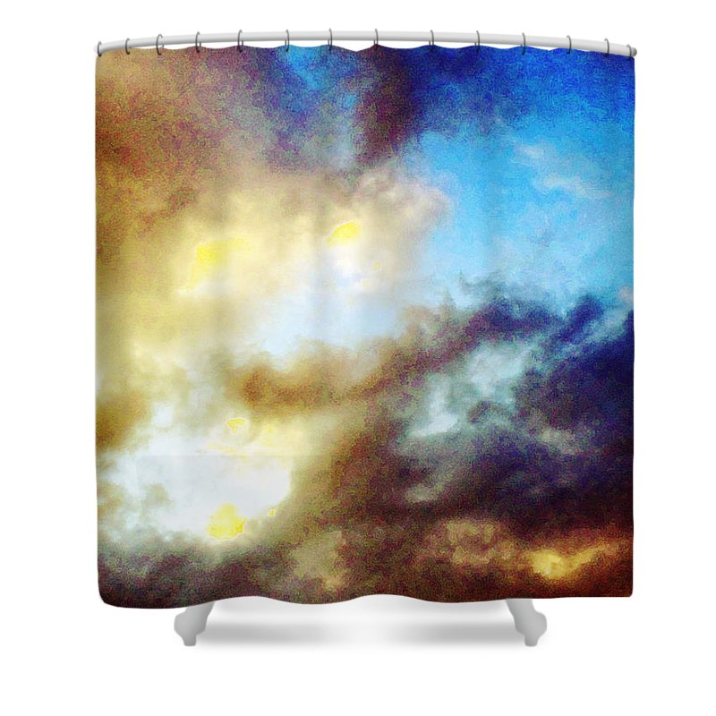 Summer Shower Curtain featuring the photograph Clouds by Flavien Gillet