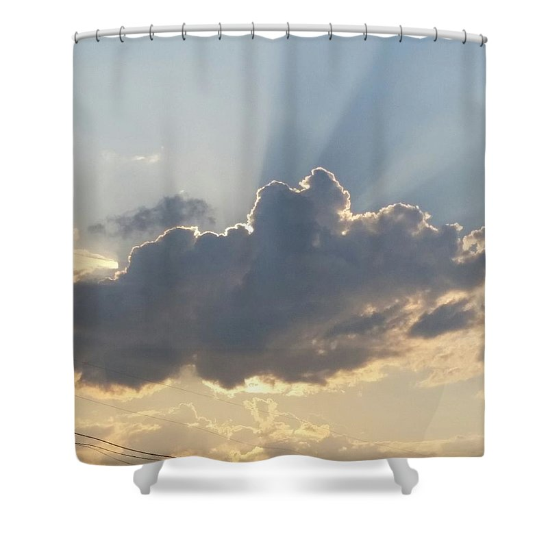 Clouds Shower Curtain featuring the photograph Clouds by Jessica Blair
