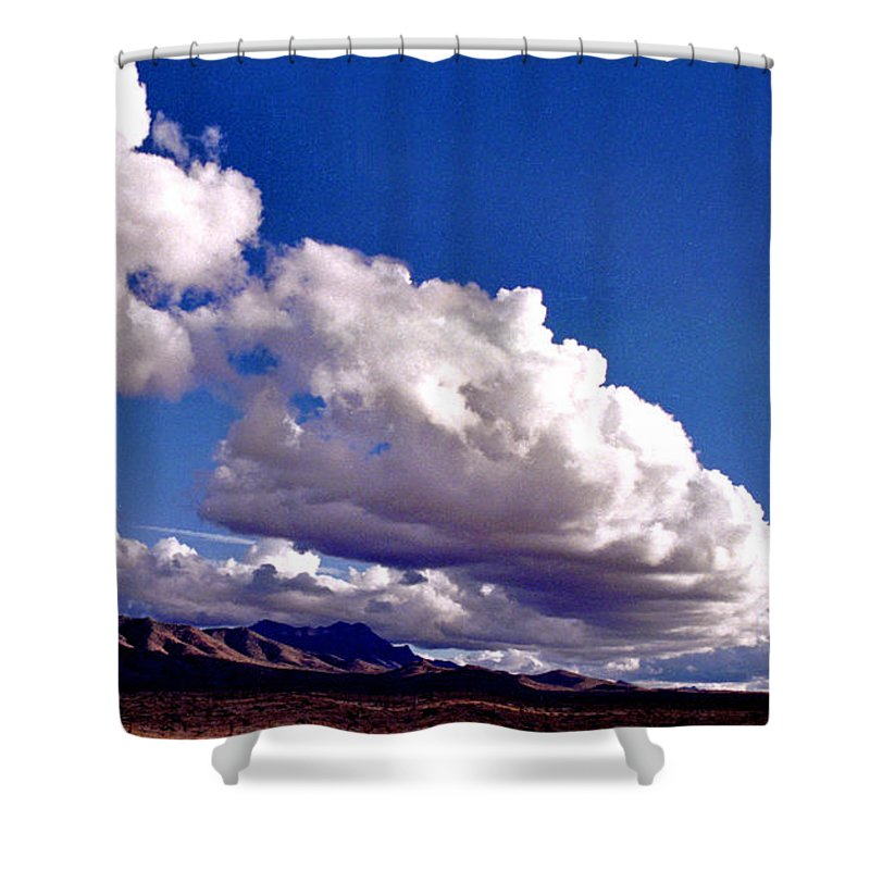 Landscape Shower Curtain featuring the photograph Clouds Marching by Randy Oberg