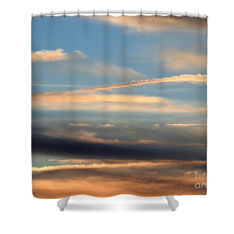 Sky Shower Curtain featuring the photograph Clouds Of Natural Art by Jan Gelders