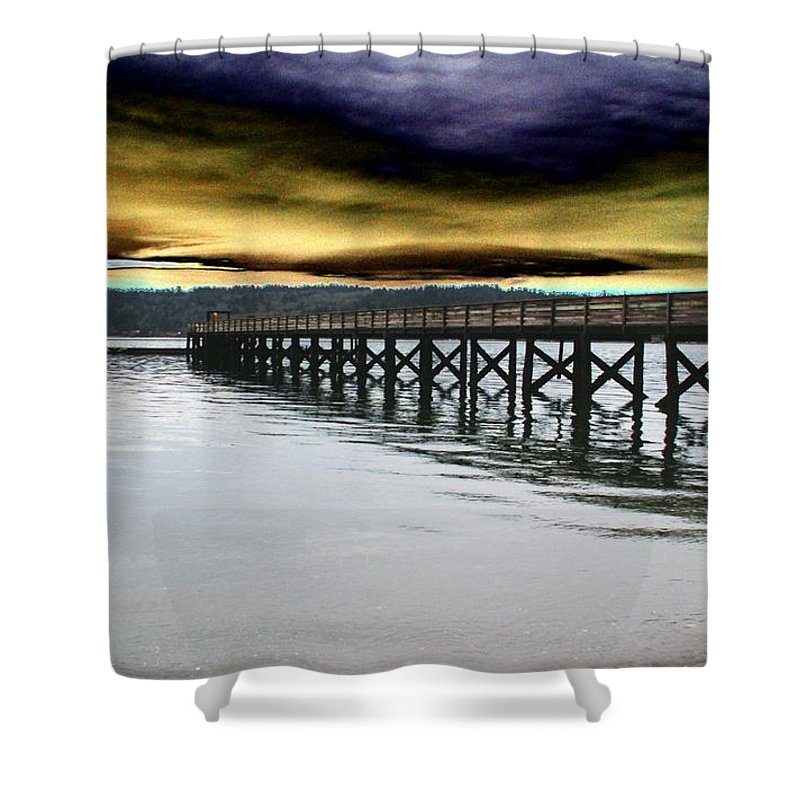 Clouds Shower Curtain featuring the photograph Clouds Over Illahee by Tim Allen