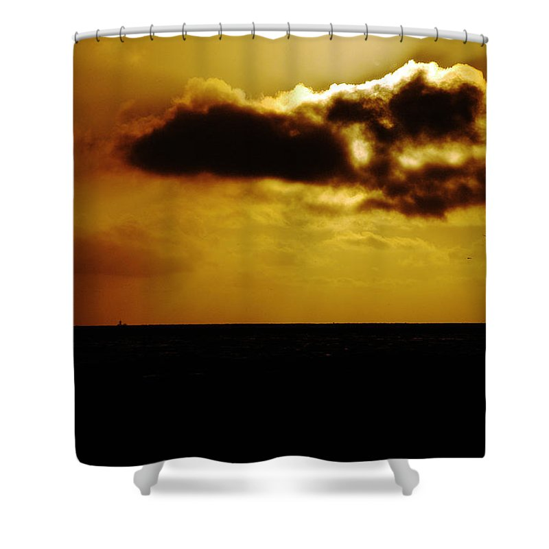Clay Shower Curtain featuring the photograph Clouds Over The Ocean by Clayton Bruster