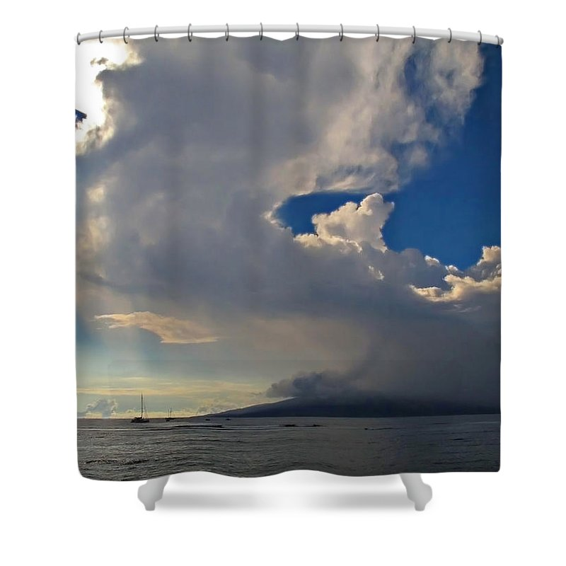 Hawaii Shower Curtain featuring the photograph Clouds Rising by Joan Minchak
