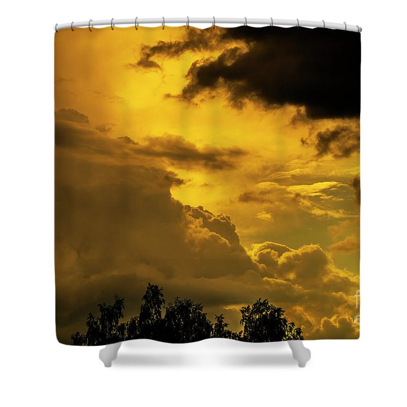 Cloud Wall Shower Curtain featuring the photograph Clouds by Tino Lehmann