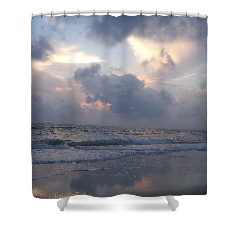 Rain Shower Curtain featuring the photograph Cloudy Day In Naples by Laurie Paci