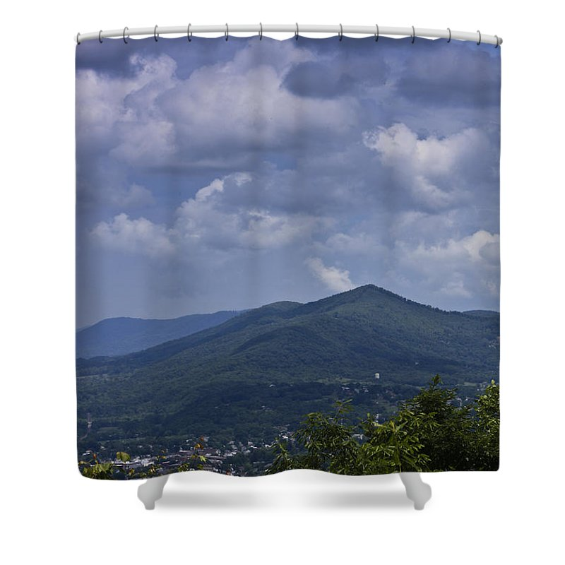 Roanoke Shower Curtain featuring the photograph Cloudy Day In Virginia by Teresa Mucha