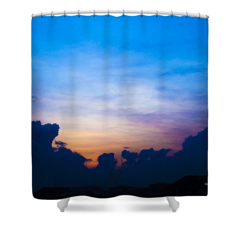 Landscape Shower Curtain featuring the photograph Cloudy Hedges by Oghenefego Ofili