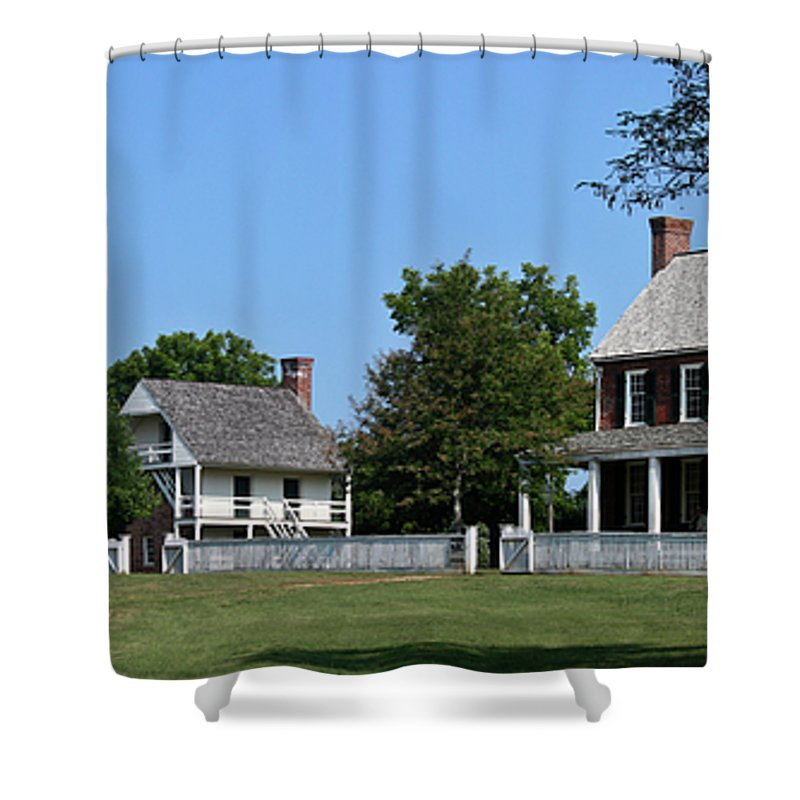 Appomattox Shower Curtain featuring the photograph Clover Hill Tavern Appomattox Court House Virginia by Teresa Mucha