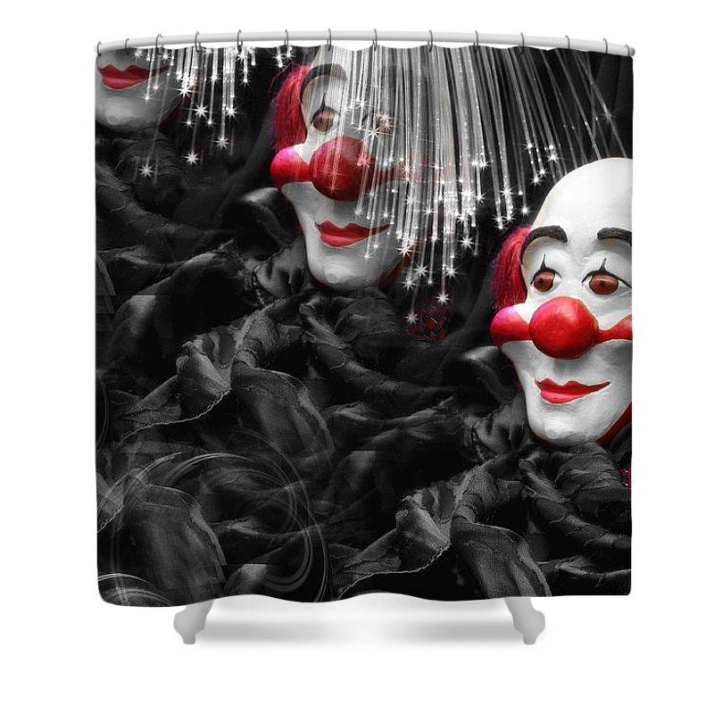 Clown Shower Curtain featuring the photograph Clown by Manfred Lutzius