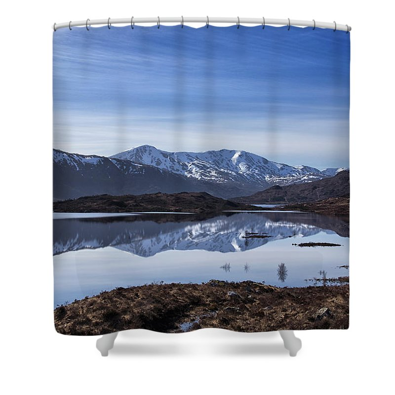 Loch Shower Curtain featuring the photograph Cluanie Dam by Jacqi Elmslie