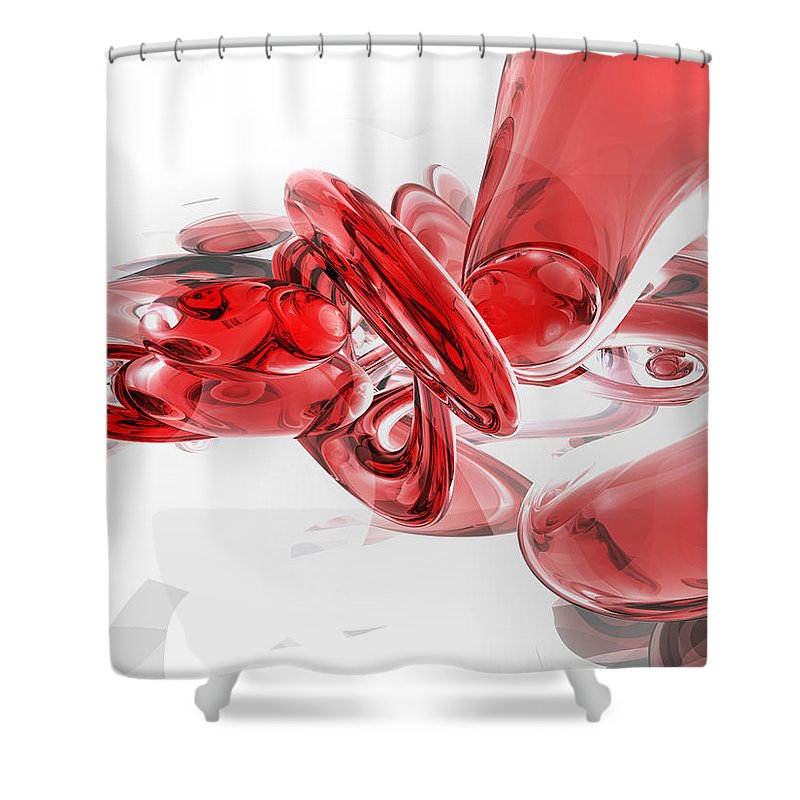 3d Shower Curtain featuring the digital art Coagulation Abstract by Alexander Butler