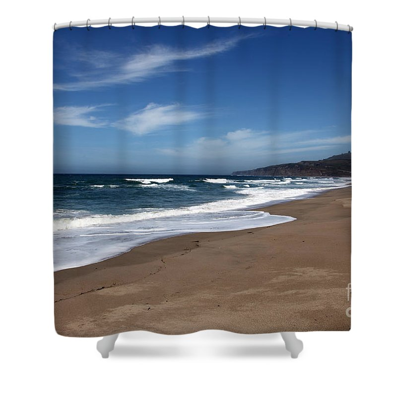 images Of California Shower Curtain featuring the photograph Coast Line by Amanda Barcon